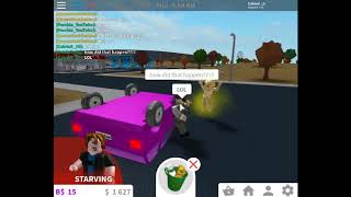 Roblox Bloxburg - Flipped over car!