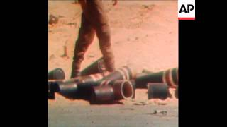 SYND 11-10-73 ISRAELI TANKS AND GUNS IN ACTION