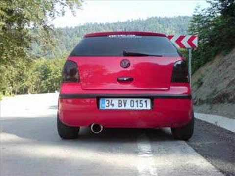 vw polo 9n red in black youtube. Black Bedroom Furniture Sets. Home Design Ideas