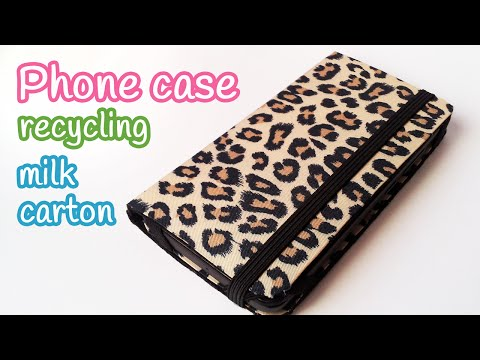 DIY crafts: PHONE CASE recycling milk carton - Innova crafts