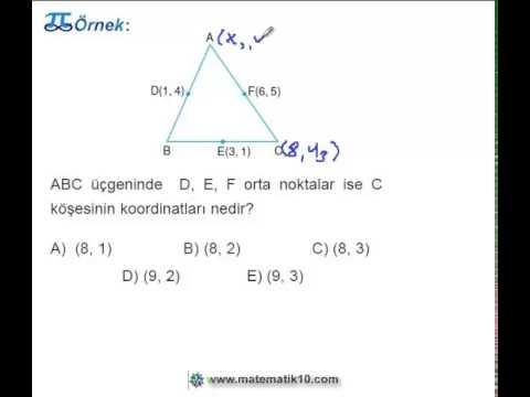 10.Sınıf Matematik Üçgenin Ağırlık Merkezi Ve Alanı