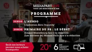 «En direct de Mediapart» : Montebourg et (les soutiens de) Valls face à la rédaction