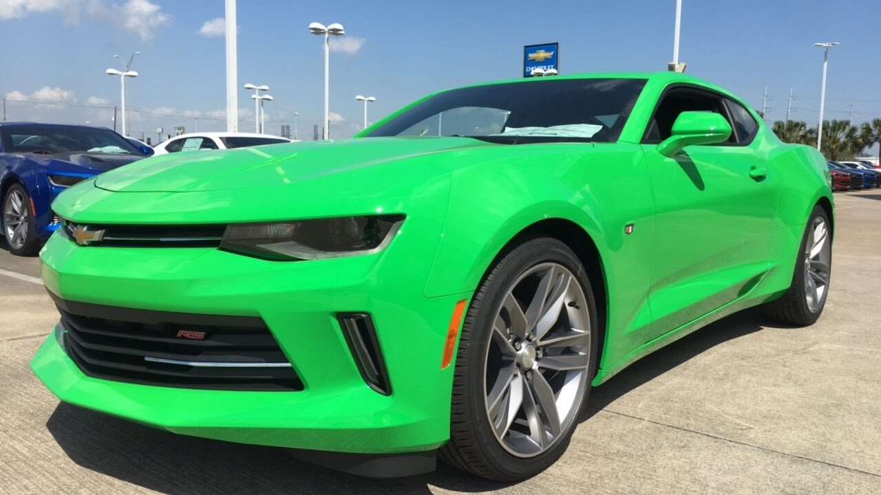 2017 chevrolet camaro rs 3 6l v6 krypton green youtube. Black Bedroom Furniture Sets. Home Design Ideas