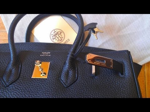 e99be7e40d79 Hermes 35cm Birkin Bag Black Togo Leather with silver hardware - YouTube