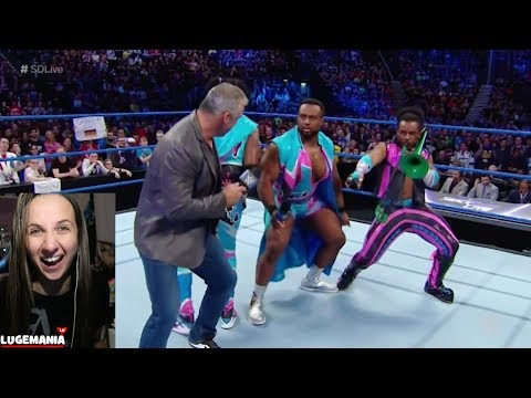 WWE Smackdown 11/7/17 Shane O Mac dances with NEW DAY