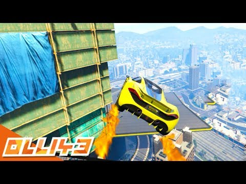 BIG CITY JUMPS WITH SUPERCARS  - GTA 5 Online Races