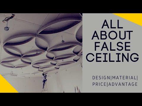 हम क्यूं करते हैं False ceiling ? POP , Gypsum , PVC false ceiling design , price and everything