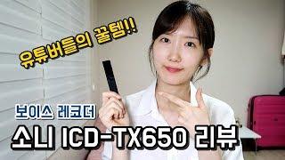 소니 icd-tx650 두 달 사용해본 솔직 리뷰 (캐…