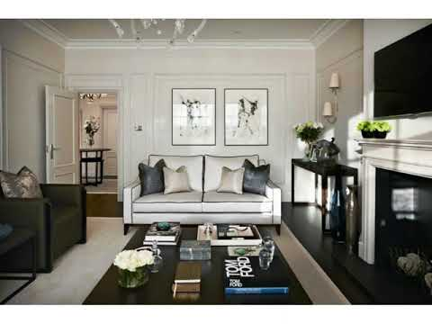 Dark wood trim white walls living room ideas youtube - White walls living room ...