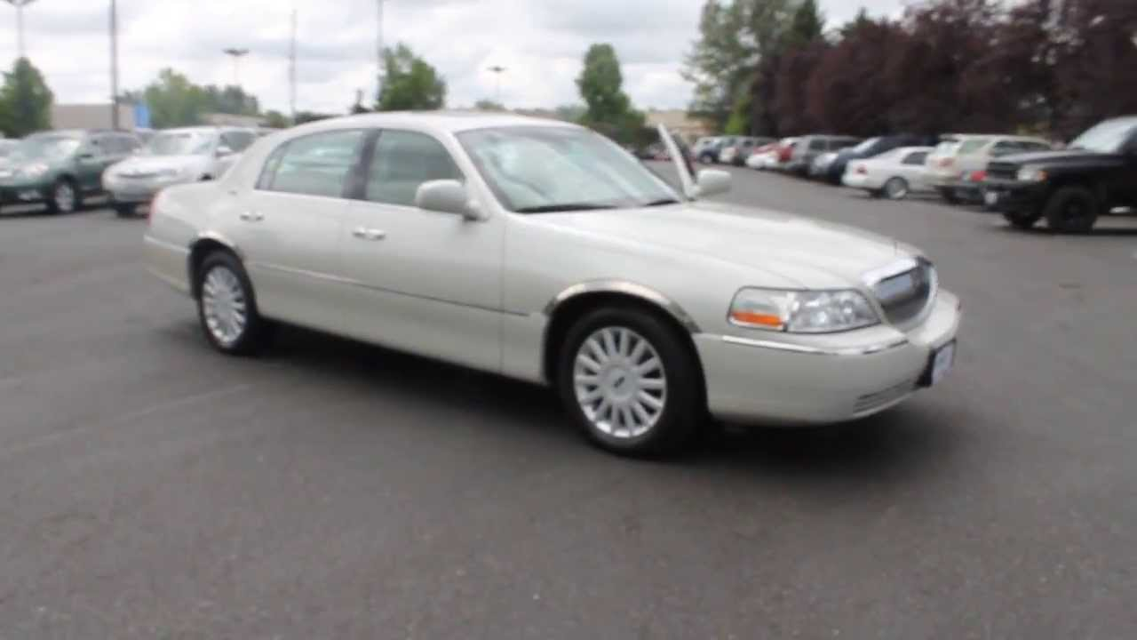 2005 Lincoln Town Car Pearl White Stock 730967 Youtube