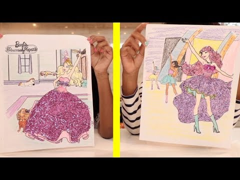 Toy Art - Cute Barbie and the Pop Star Glitter Coloring
