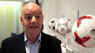 FIFA President Gianni Infantino Tribute Message to Steve Sumner