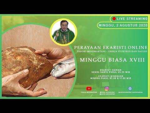 Ekaristi Live Streaming Minggu Sore 2 Agustus 2020 Paroki Minomartani - Gereja St. Petrus Dan Paulus