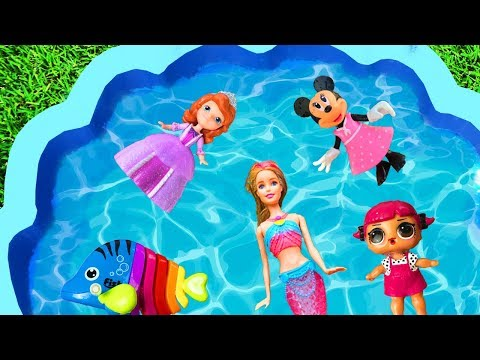 Learn with Pj Masks Girl Toys - Pool Toys For Kids - Animals Barbie Learn Colors For Kids