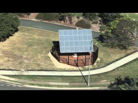 Aerial footage of UQ's solar installations