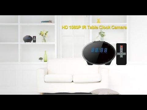 HD 1080P IR Table Clock Camera(AI-TC030)-Footage video 1