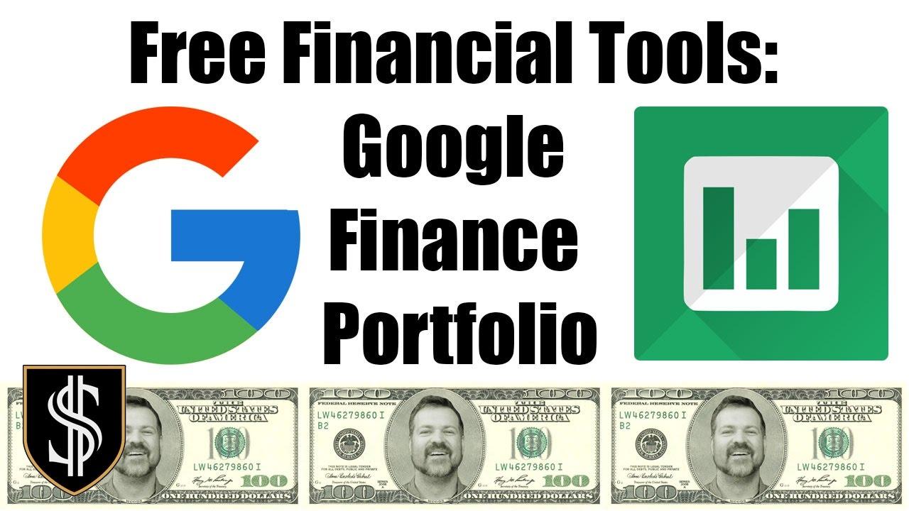 free investment tools setup a portfolio in google finance youtube