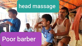 Asmr head,Neck,arm and body massage with Tapping sound by Indian street barber