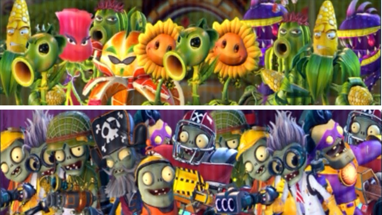 Plants Vs Zombies Garden Warfare 2 All Plants And Zombies New Characters Youtube