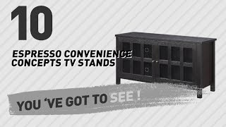 Espresso Convenience Concepts TV Stands // New & Popular 2017