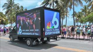 Mobile Digital LED Billboard Truck in Parade