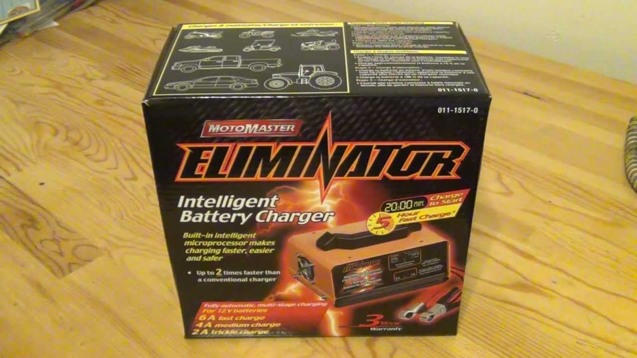 Motomaster eliminator intelligent battery charger 11 1517 0 unboxing motomaster eliminator intelligent battery charger 11 1517 0 unboxing my new one youtube swarovskicordoba Images
