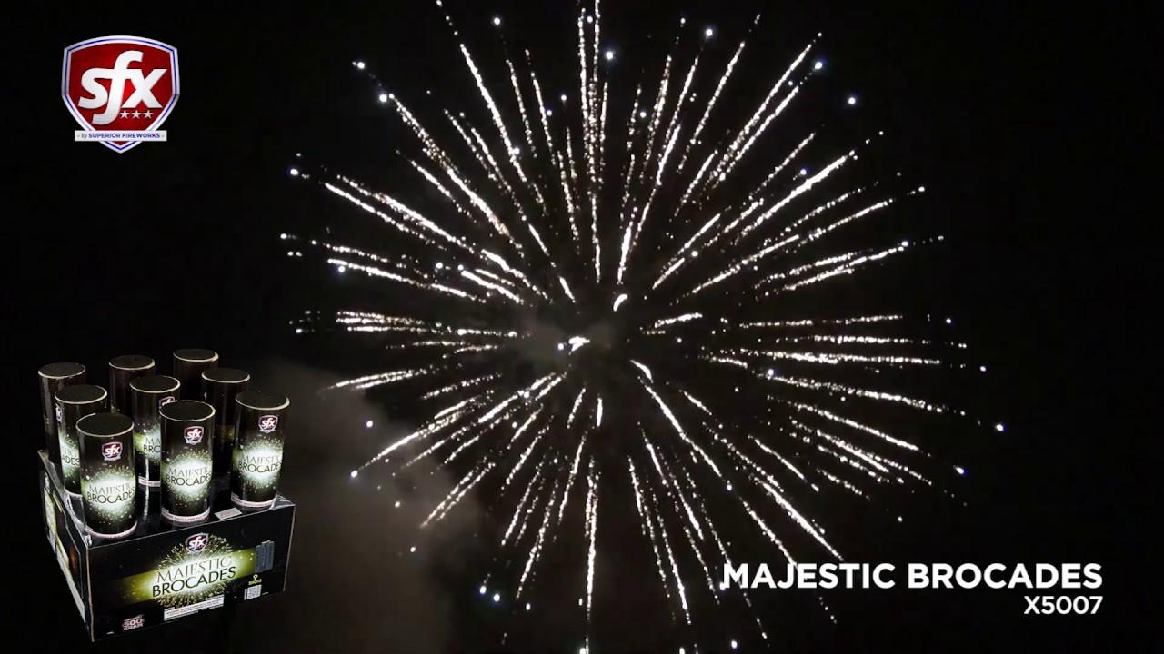 Majestic Brocades, a 9-Shot Finale Rack by SFX Fireworks | Superior Fireworks