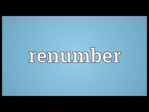 Header of renumber