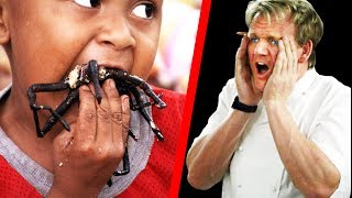 10 Times Gordon Ramsay Ate EXOTIC FOOD! - BabbleTop