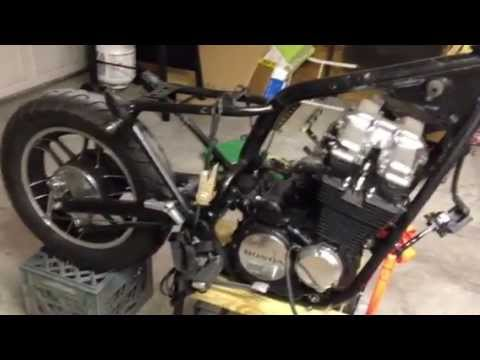 1983 honda cb650 nighthawk bobber project part 7 youtube rh youtube com