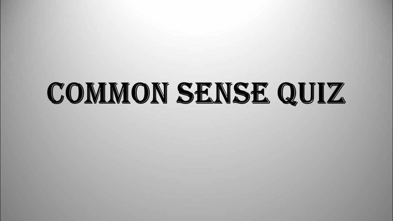 common sense test Creating tests is easy and quick with that quiz it's not super slick, but the levels of customization make up for the slightly boring interface.
