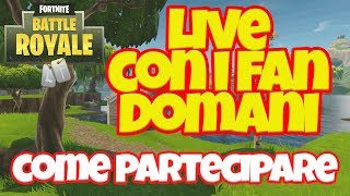 Fortnite Live with subscribers tomorrow, January 13th at 2:30 pm How to participate?