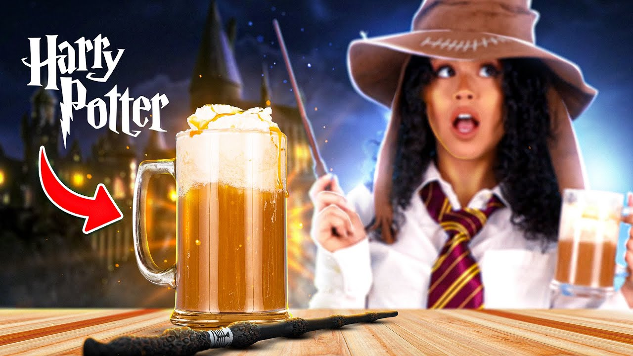 How To Make Butterbeer! | Boozy Butterbeer From Harry Potter! Halloween Cocktail