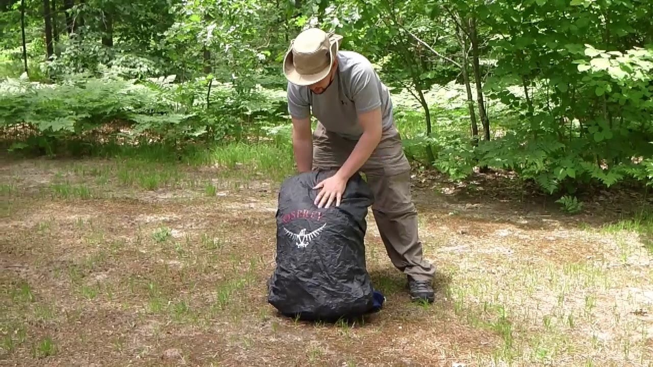 Osprey Exos 58 - Recommended Raincover -