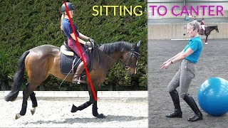 Sitting To Canter - Dressage Training TV