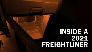 Inside of a semi-truck: Tour of a 2021 Freightliner