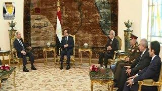 الرئيس السيسي يستقبل رئيس وزراء الأردن وزير الدفاع هاني الملقي
