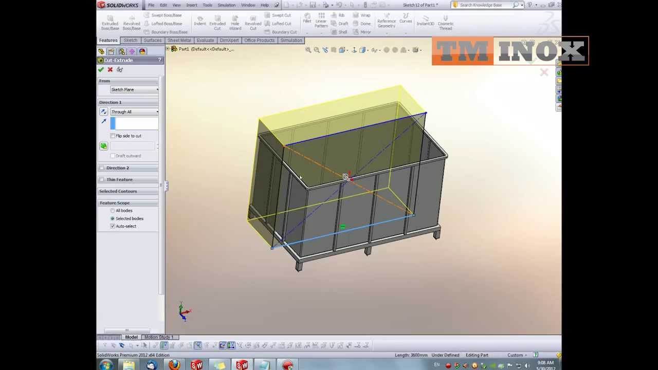 Designing Tanks On Solidworks By Tm Inox Youtube