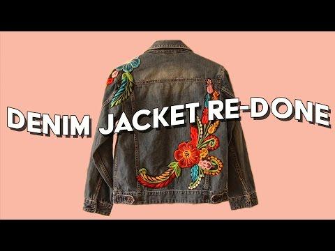 Thrifted Denim Jacket Re-Done, COLLAB with Rachel Foley // Fashion Revolution Week, Haulternative