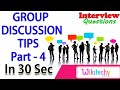 Common Mistakes During A Group Discussion -4 group discussion videos in interviews in india