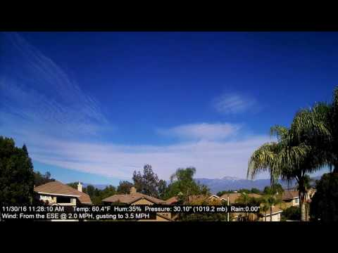 Chino Hills Time-Lapse 11/30/16