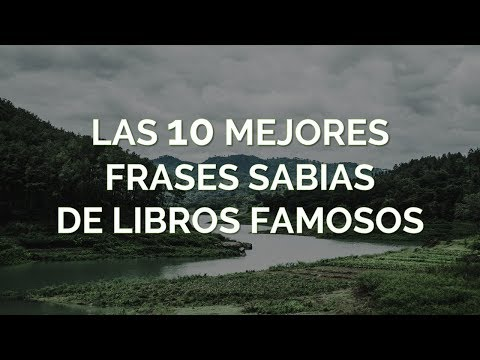Las 10 Mejores Frases Sabias De Libros Famosos Youtube