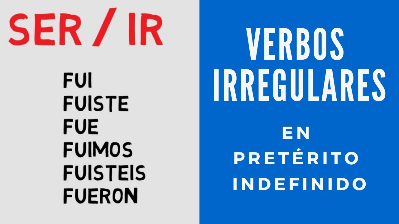 Verbos Irregulares En Pretérito Indefinido Youtube