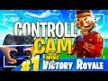 MY LITTLE BROTHER PLAYS SOLO W/HANDCAM FOR THE FIRST TIME!! 15 KILLS OMG! FORTNITE BATTLE ROYALE!