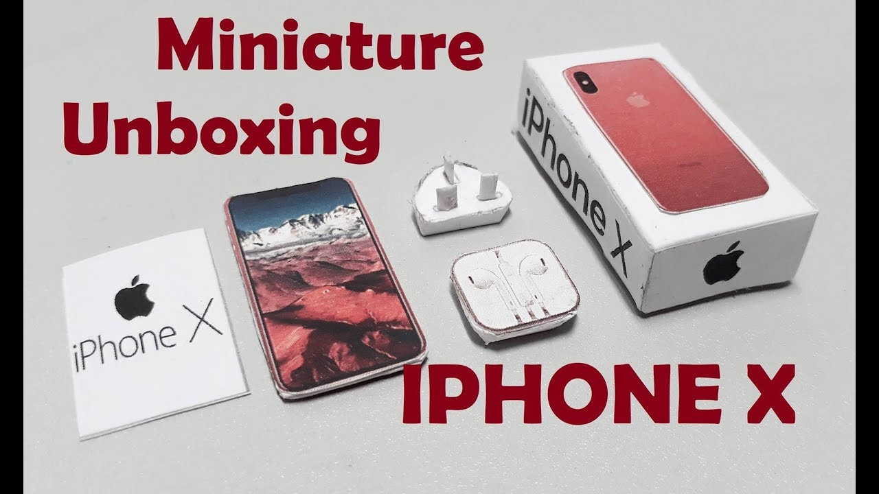 Miniature How To Make Tini Iphone X Iphone X For Dollhouse Youtube