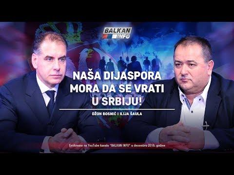 AKTUELNO: Naša dijaspora mora da se vrati u Srbiju - Džon Bosnić i Ilija Šaula (7.12.2018)