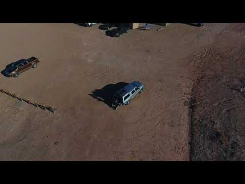 Drone Footage of the four corners with my broken leg and hunter!