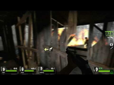 Left 4 Dead 2 New  Gameplay Footage - The Swamp, Shantytown, and Car Alarms