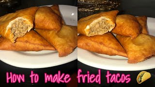 COOKING WITH CHELSIE   How To Make Fried Tacos 🌮
