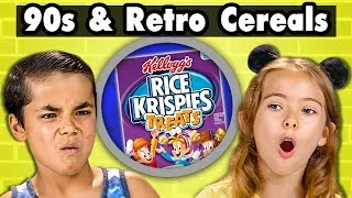 Kids Try 90s & Retro Cereal They've Never Heard Of | Kids Vs. Food